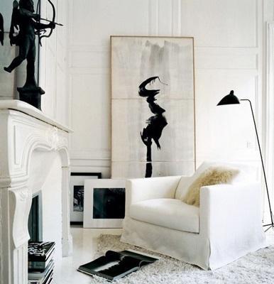 Una elegante y sencilla obra de arte japones, en blanco y negro.