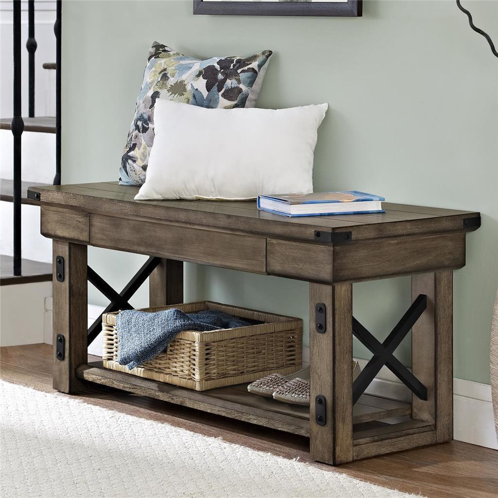 Recibidores de estilo industrial for Estilos de muebles de madera