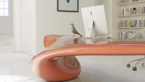 Volna es el nombre de este escritorio de formas imposibles, creado por Nuvist estudio.
