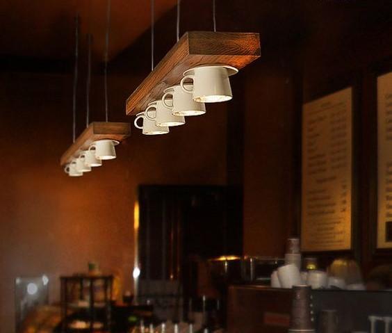 Luz de barra de bar - Tazas de cafe de diseno ...