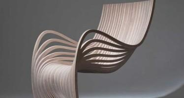 Alejandro Estrada designer. The Pipo Chair, produced for sale by Guatemalan manufacturer Piegatto, was imagined to utilize wood as the sole material for the entire design.