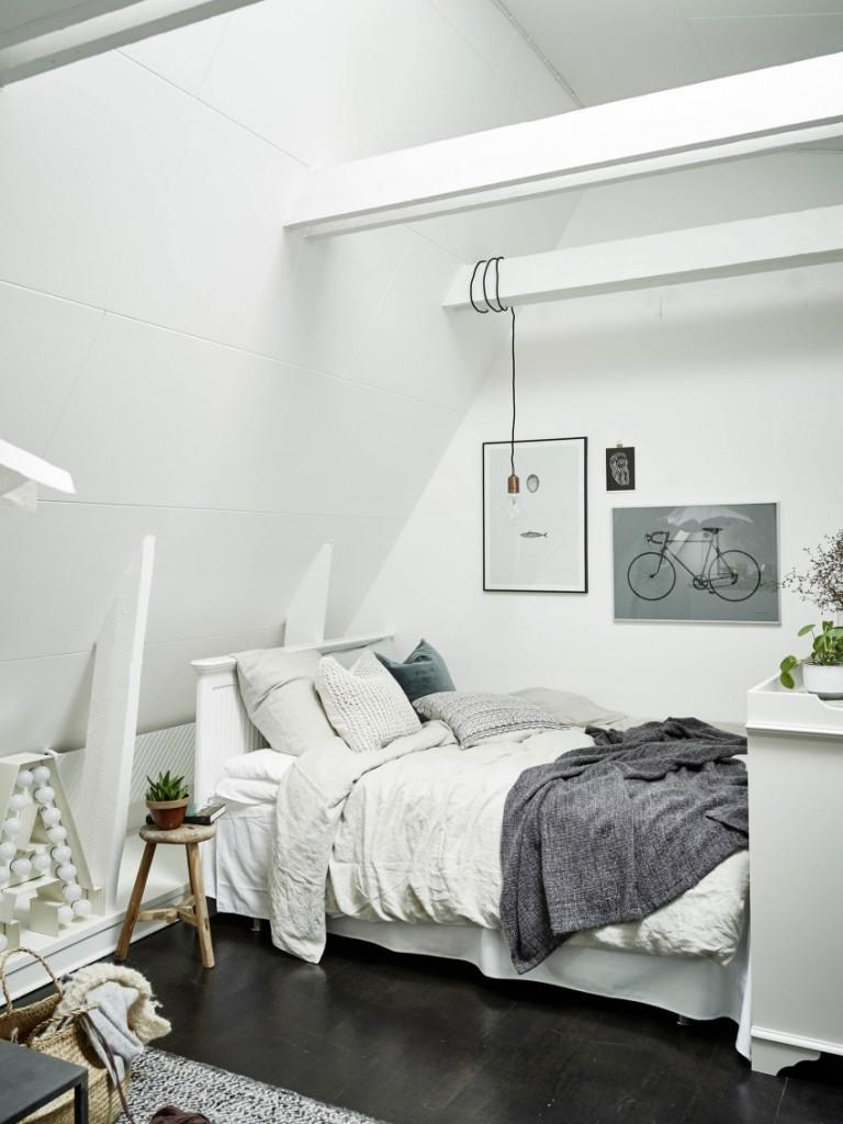 Esta es la zona de descanso, en este apartamento de Vasastan.