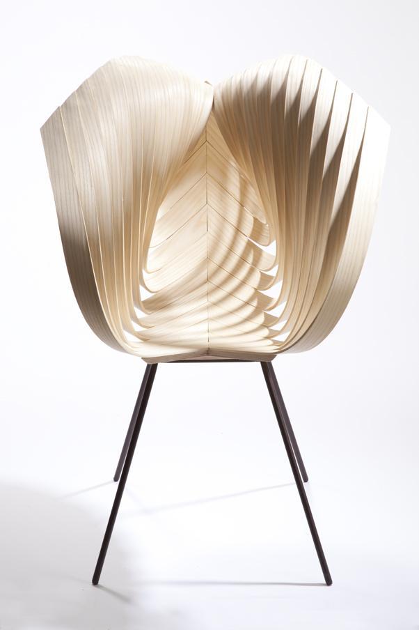 Creado por la diseñadora Laura Kishimoto, vemos la Yumi Chair.