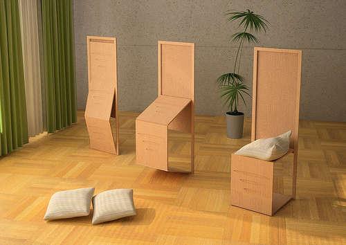 Otro modelo de silla, que se puede convertir en una plancha plana.