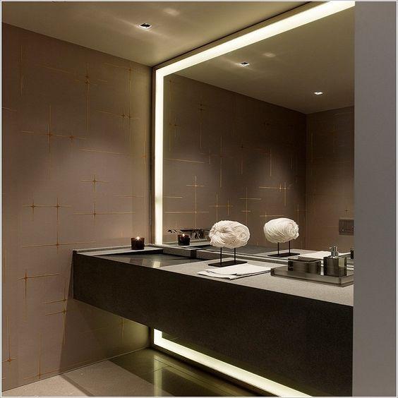 10 modelos de espejos para ba os - Espejo retroiluminado bano ...
