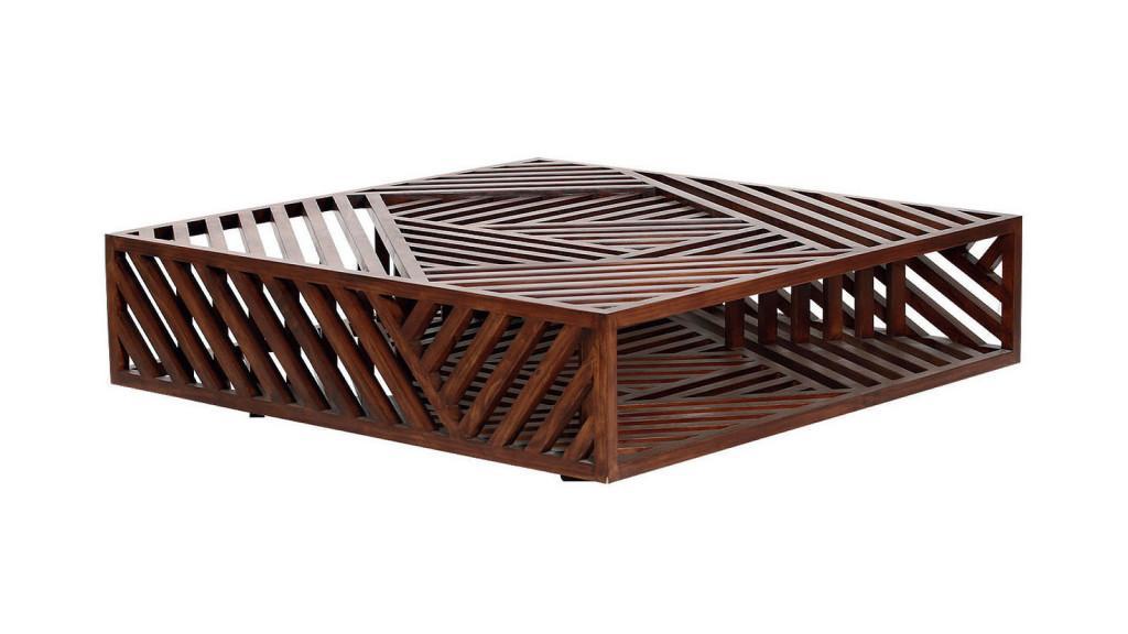 Ari Cocktail Table, es el nombre de este geométrico diseño.