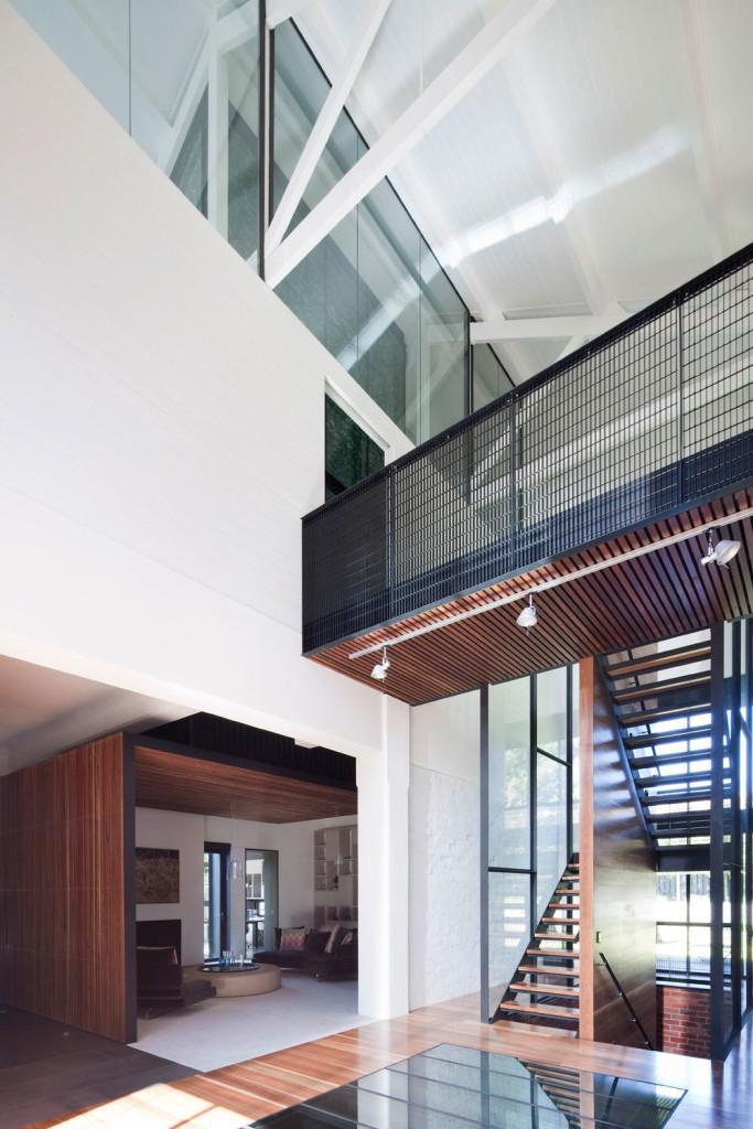 Las laminas de madera son el nexo de unión decorativo, entre diferentes estancias.