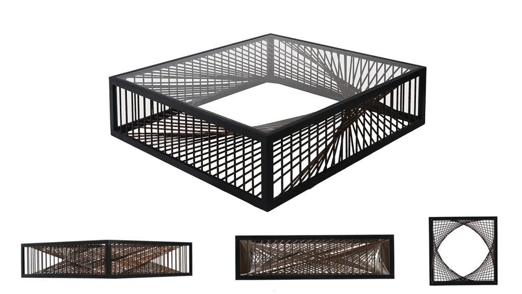 Un Deux Trois es el original nombre, de este particular diseño de mesa de centro.