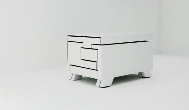 Un mueble que esconde en su diseño, espacio de almacenaje.