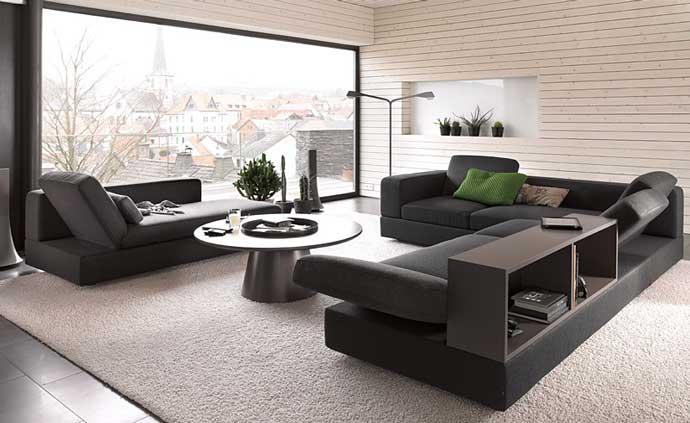 Múltiples posiciones, las que adopta este sofá denominado Kaja.