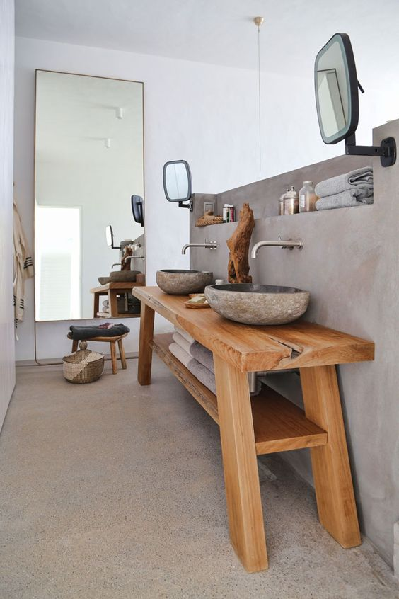 10 modelos de espejos para ba os for Greek style bathroom design