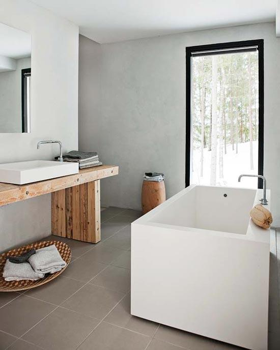 Baños rústicos y minimalistas. | Decorar.net