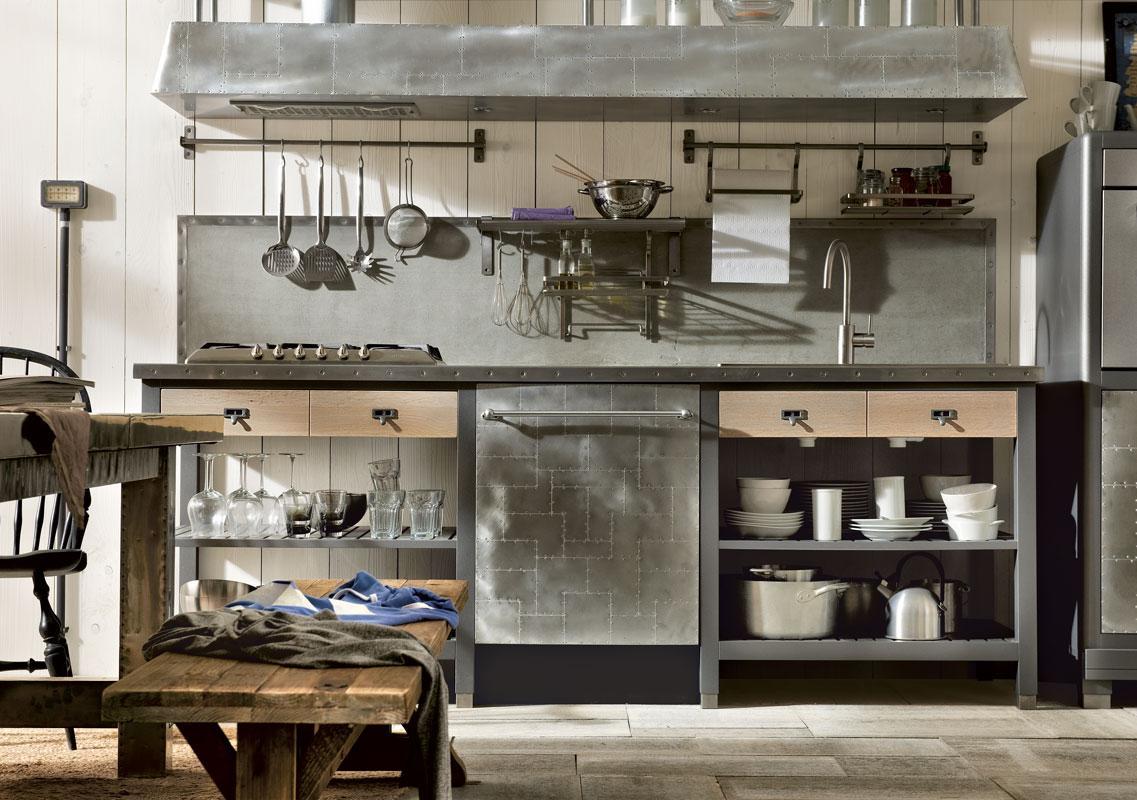 Cocinas retro e industriales for Estructura de una cocina industrial