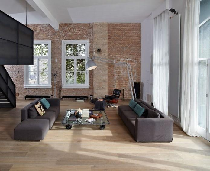 En esta imagen se aprecian los distintos tonos, con los que se vistió toda la vivienda.