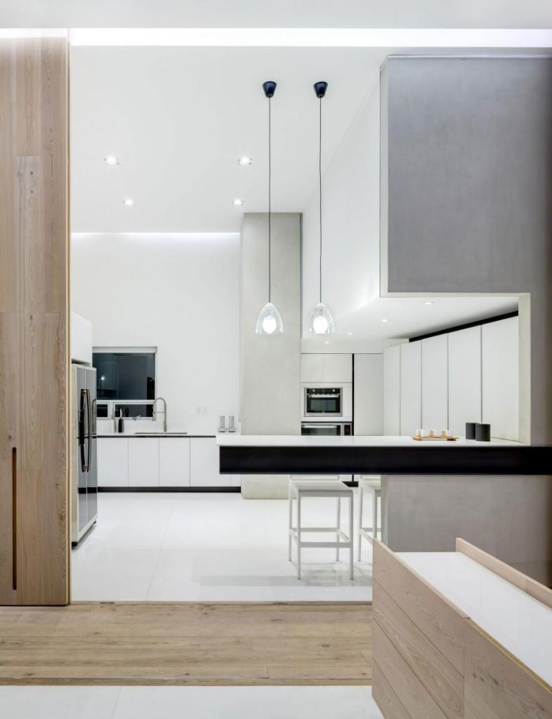 Con la sencillez de lineas del minimalismo, se muestra esta moderna cocina.
