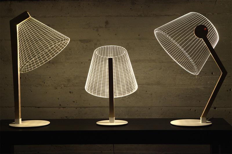 la Bulbing Lamp, crea el efecto, de un diseño en tres dimensiones.