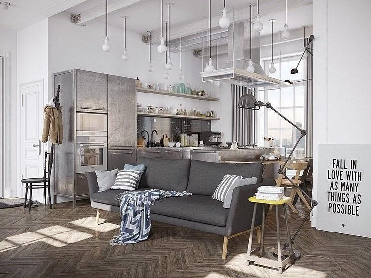 Un apartamento diseñado por el creativo ruso Denis krasikov.