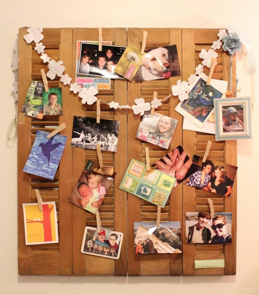 Una manera festiva de exponer tus recuerdos.