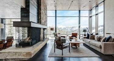 Mountain-retreats-offer-the-perfect-backdrop-for-a-rustic-style-space