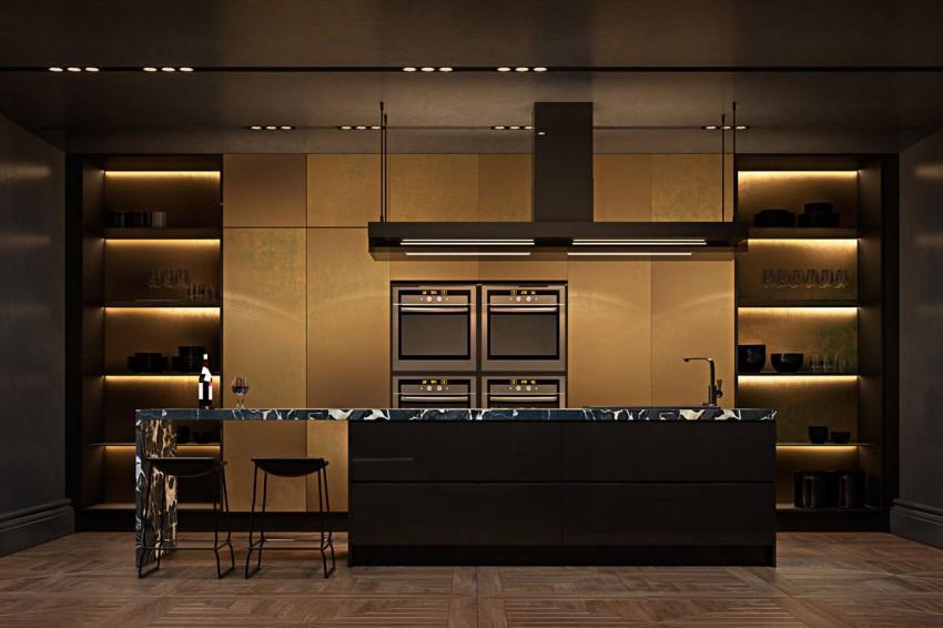 El toque de color de la vivienda lo pone la cocina, aportando al espacio un tono cálido muy suave y sutil.