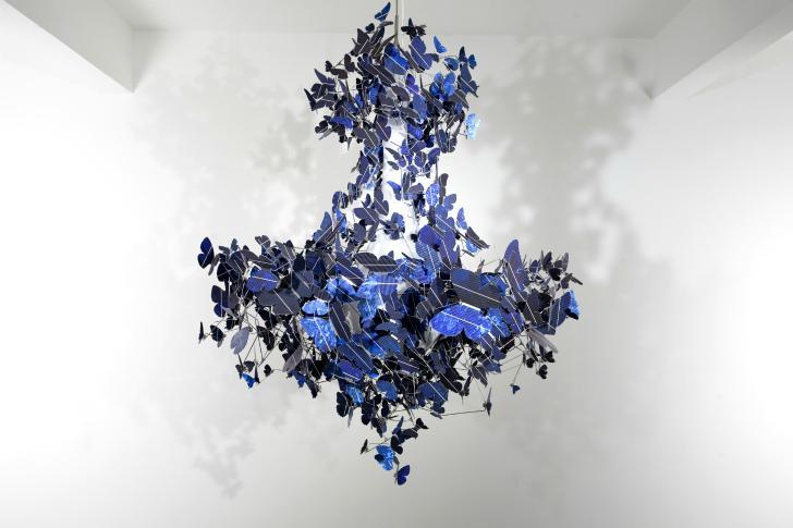 Virtue of Blue es el nombre de este diseño con mariposas.