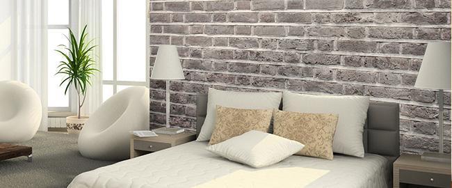 10 fotomurales originales for Black brick wallpaper bedroom