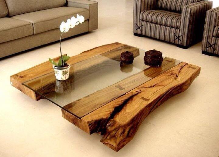 9 mesas r sticas de innovadores dise os for Mesas de troncos de madera