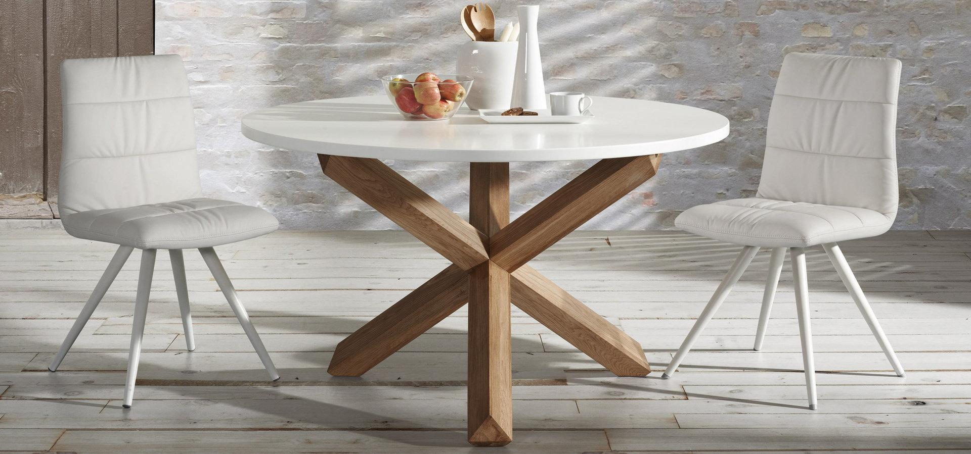 8 mesas redondas for Mesas redondas para comedor