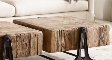 RECLAIMED RUSSIAN PINE INDUSTRIAL COFFEE TABLE