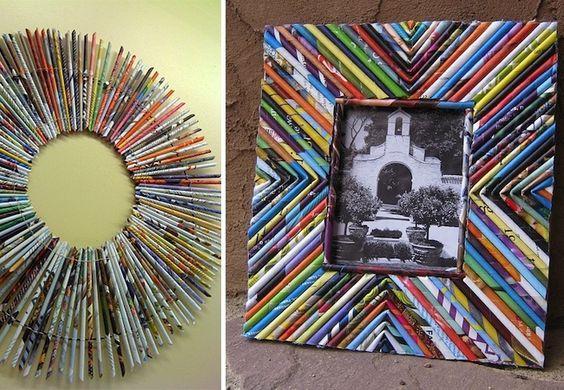Ayuda a cuidar el medioambiente, reutilizando las revistas para enmarcar los recuerdos de este verano.
