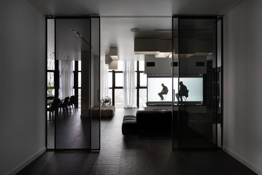 Lineas rectas, que marcan la decoración en este apartamento.
