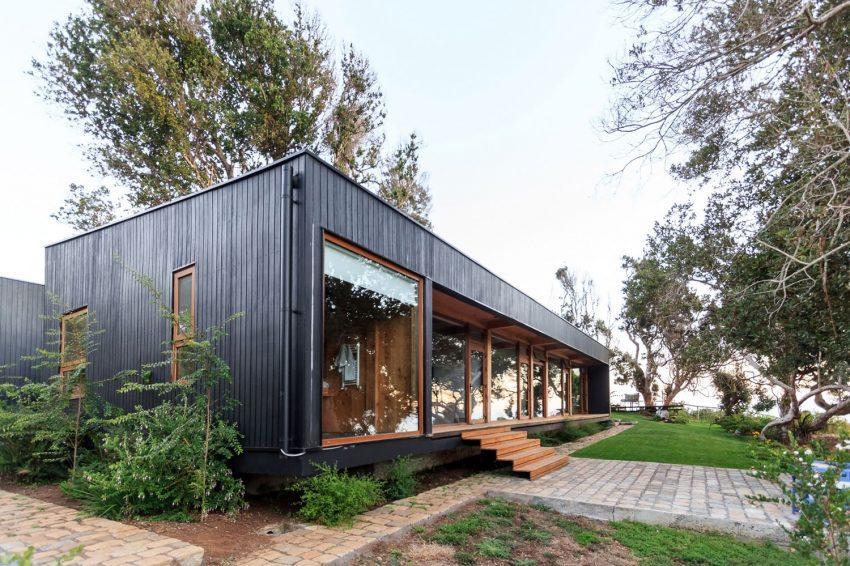 Madera de ciprés, tanto para el interior como para el exterior de esta propiedad.