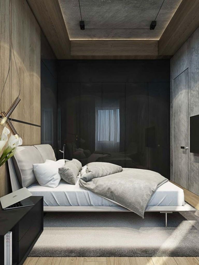 También con un toque masculino vemos este otro dormitorio.
