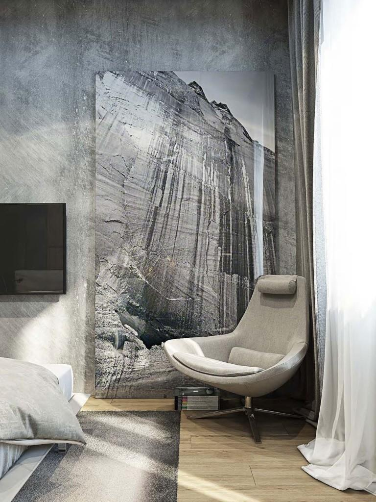 Las diferentes texturas, juegan una parte muy importante en la decoración de esta vivienda.