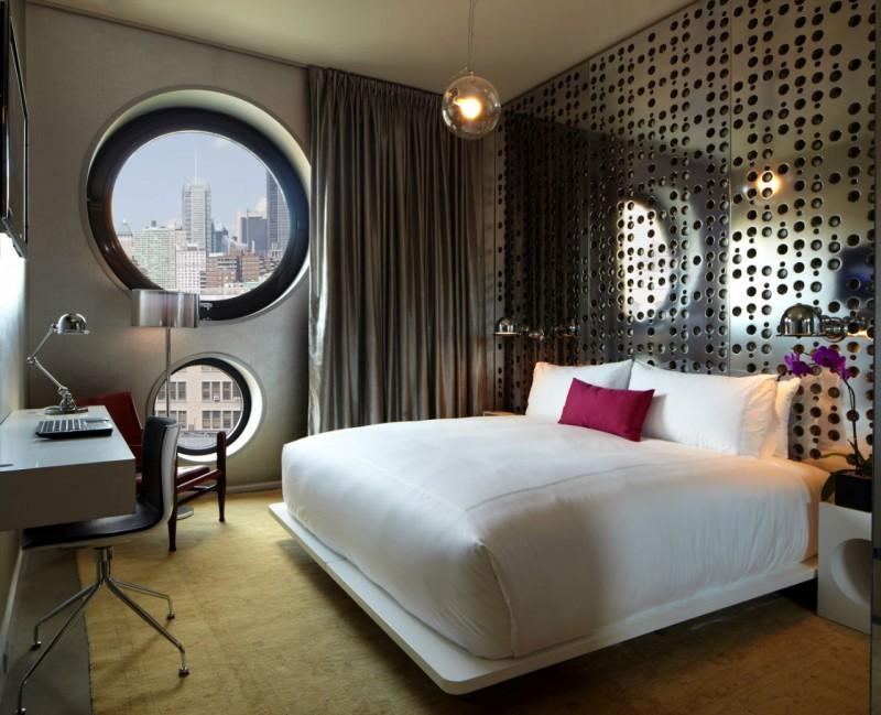 La decoración de los modernos dormitorios no deja atrás los recurrentes círculos.