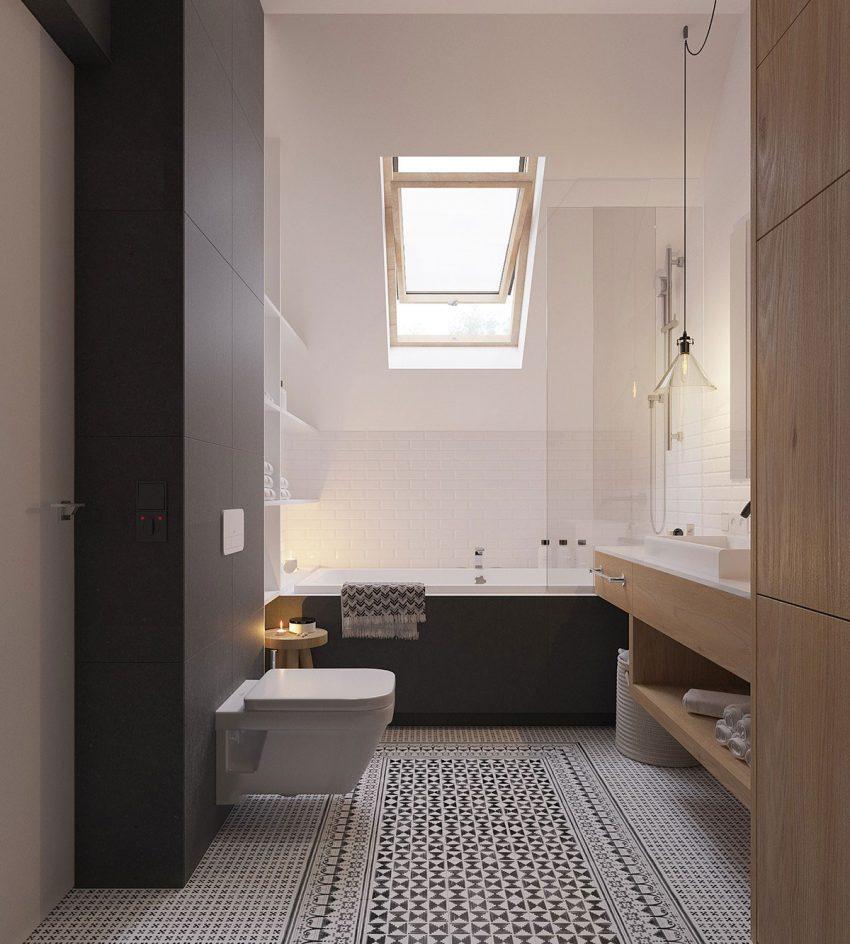 Uno de los originales cuartos de baño de esta propiedad.
