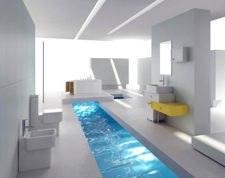 9 Baños de estilo futurista. | Decorar.net