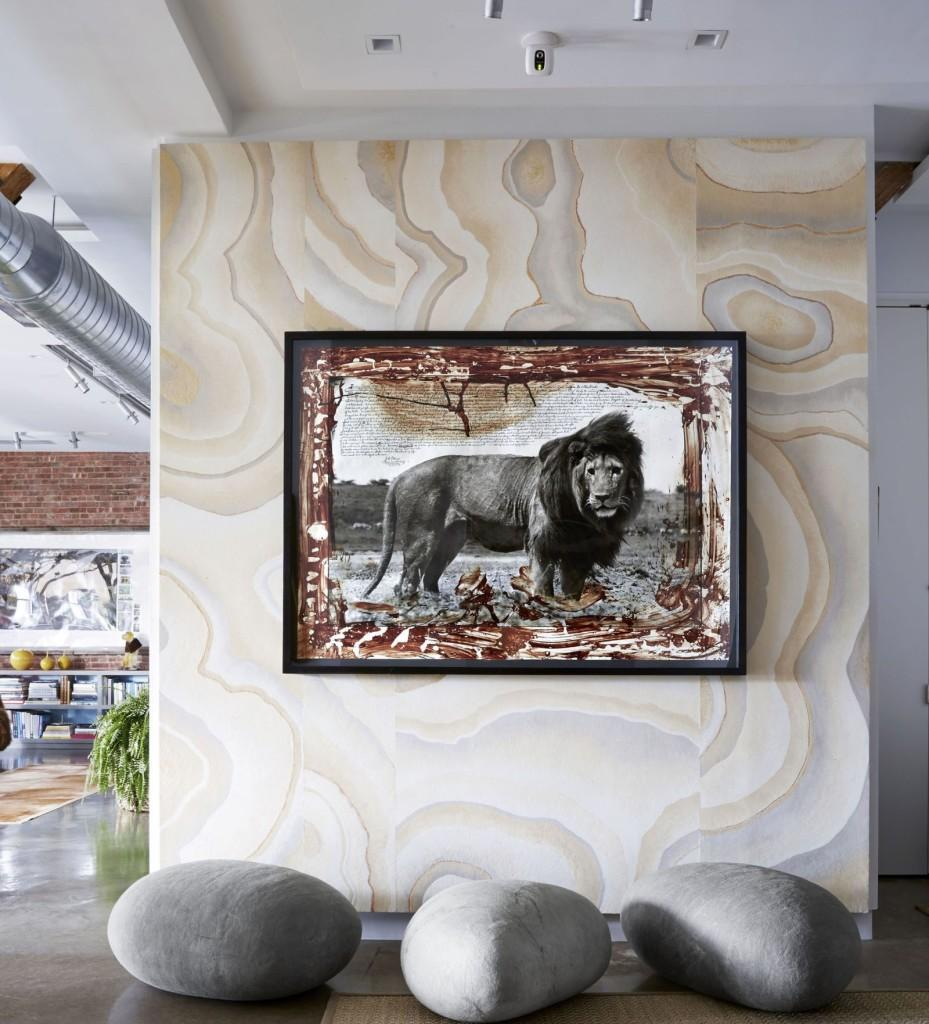 Estilo Serengeti nos recibe en este loft de Manhattan.