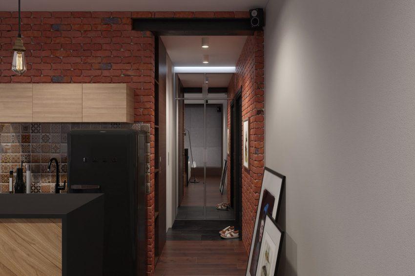 Imagen del pequeño recibidor de este aprovechadísimo apartamento.