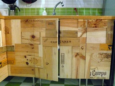 Reciclaje, otra idea para darle un toque original a tu cocina.