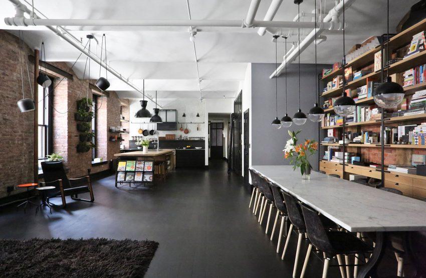 Imagen del espacio abierto, dedicado a salón, comedor y cocina.