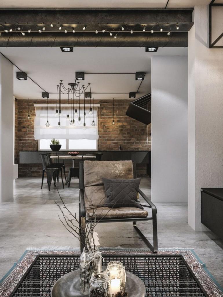 Mobiliario de diseño contemporáneo, salpica cada una de las estancias de este loft.