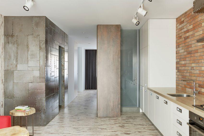 Una cocina abierta a la zona de estar.