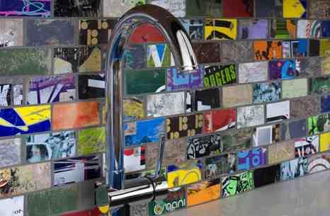 Una esplendida idea de reciclaje, del equipo de The Lofts @ Cherokee Studios.