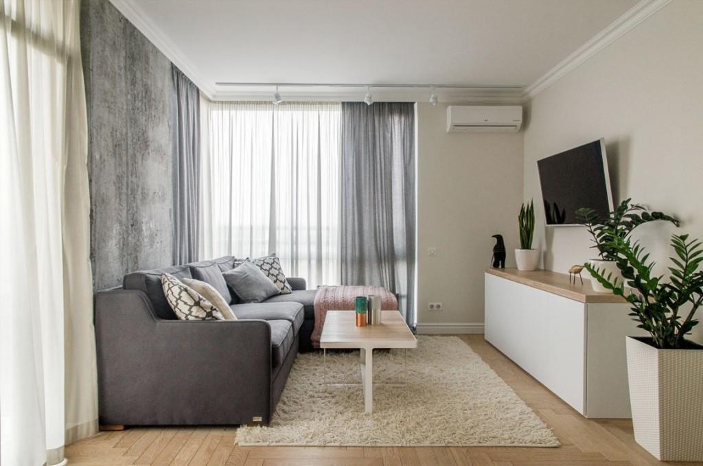 Mobiliario de líneas sencillas de estilo minimalista.