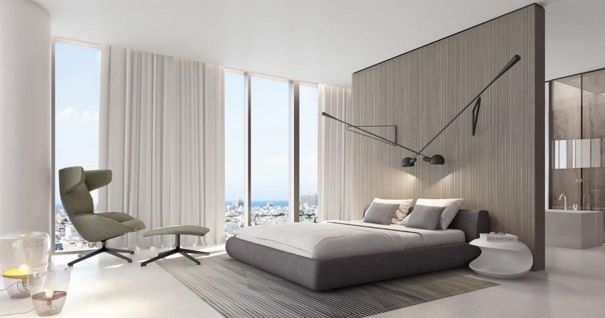 La suavidad de tonos en el dormitorio, ayudan al descanso.