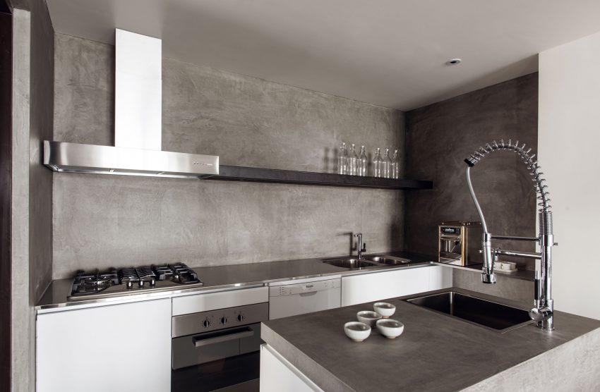 Diseño y simplicidad en el aspecto de la cocina.