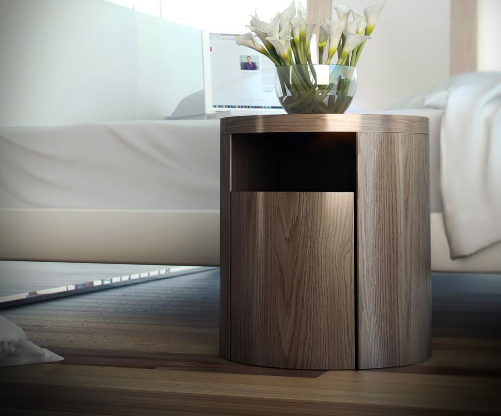 Compuesta, de chapa de madera natural, vemos el modelo Mulberry.