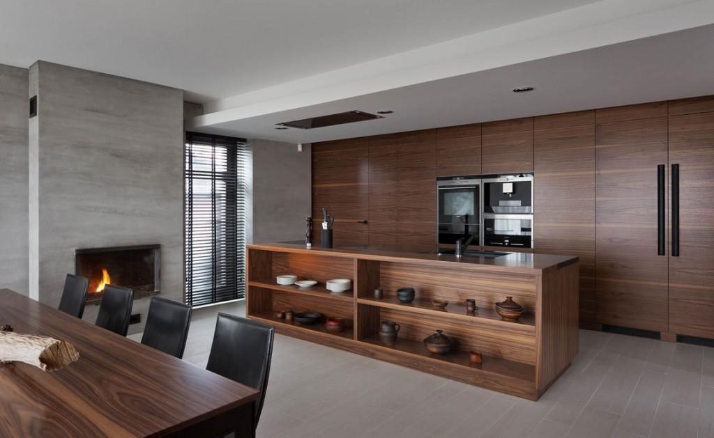 Una cocina diseñada en estilo minimalista.