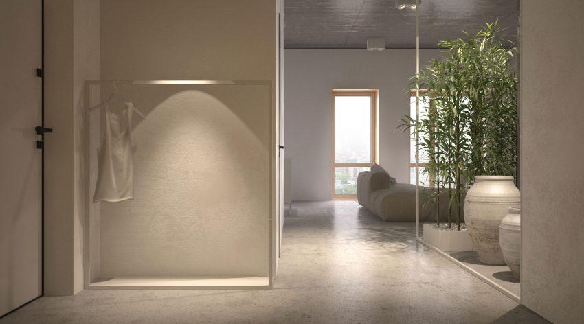 El minimalismo decorativo es la máxima de esta vivienda.